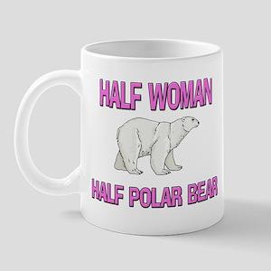 Half Woman Half Polar Bear Mug