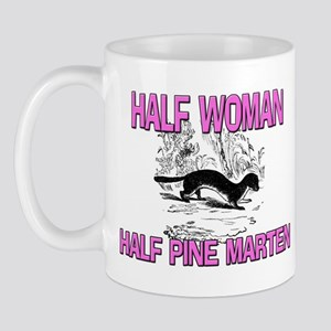 Half Woman Half Pine Marten Mug