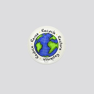 Recycle - Reuse - Reduce - Re Mini Button (10 pack