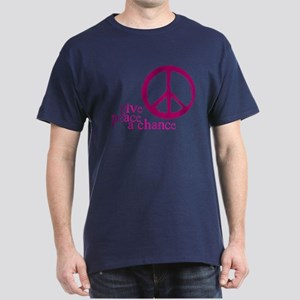Give Peace a Chance - Pink Dark T-Shirt