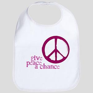 Give Peace a Chance - Pink Bib