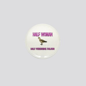 Half Woman Half Peregrine Falcon Mini Button