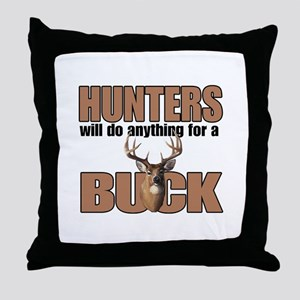 Hunters/Buck Throw Pillow