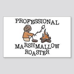 Professional Marshmallow Roaster Sticker (Rectangl