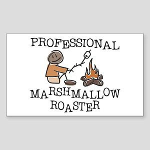 Professional Marshmallow Roaster Sticker (Rectangl