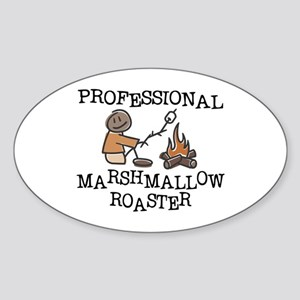 Professional Marshmallow Roaster Sticker (Oval)