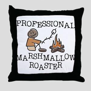 Professional Marshmallow Roaster Throw Pillow