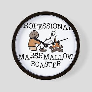 Professional Marshmallow Roaster Wall Clock