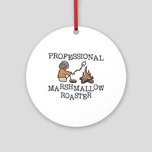 Professional Marshmallow Roaster Ornament (Round)