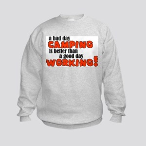 Bad Day Camping Kids Sweatshirt
