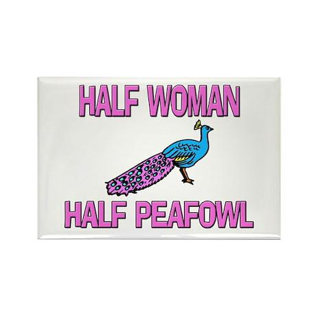 Half Woman Half Peafowl Rectangle Magnet