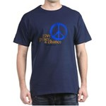 Give Peace a Chance - Blue & Orange Dark T-Shirt