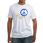 Give Peace a Chance - Blue & Orange Fitted T-Shirt
