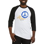Give Peace a Chance - Blue & Orange Baseball Jerse
