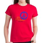 Give Peace a Chance - Blue & Orange Women's Dark T