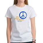 Give Peace a Chance - Blue & Orange Women's T-Shir