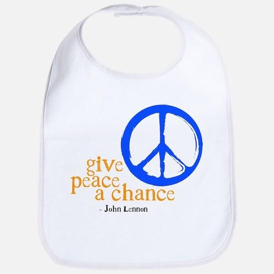 Give Peace a Chance - Blue & Orange Bib