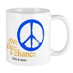 Give Peace a Chance - Blue & Orange Mug