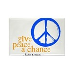 Give Peace a Chance - Blue & Orange Rectangle Magn