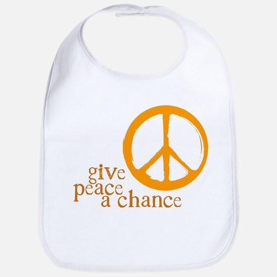 Give Peace a Chance - Orange Bib