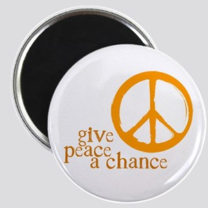 Give Peace a Chance - Orange Magnet