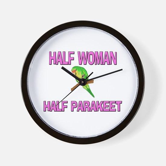 Half Woman Half Parakeet Wall Clock