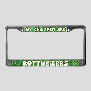 My Children Rottweiler License Plate Frame