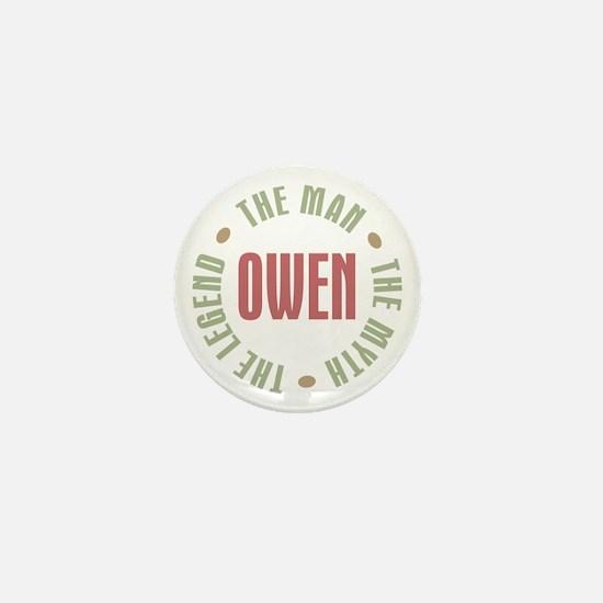 Owen Man Myth Legend Mini Button