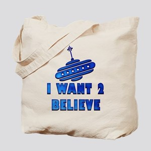I Want To Believe UFO 7 Tote Bag
