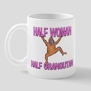Half Woman Half Orangutan Mug