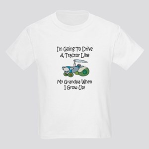 Cute Tractor Like My Grandpa Kids Light T-Shirt