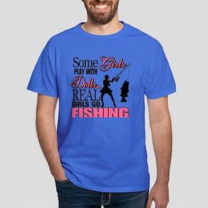 Real Girls Go Fishing Dark T-Shirt