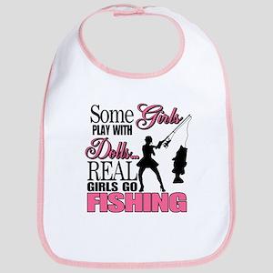 Real Girls Go Fishing Bib