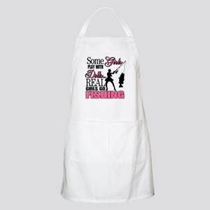 Real Girls Go Fishing BBQ Apron