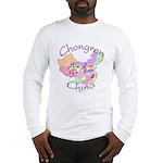 Chongren China Map Long Sleeve T-Shirt