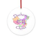 Duchang China Map Ornament (Round)