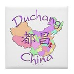 Duchang China Map Tile Coaster