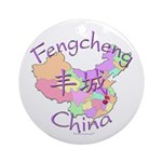 Fengcheng China Map Ornament (Round)