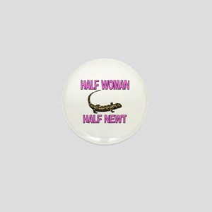 Half Woman Half Newt Mini Button