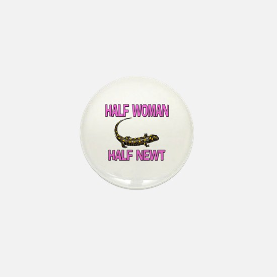 Half Woman Half Newt Mini Button