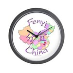 Fenyi China Map Wall Clock