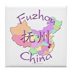Fuzhou China Map Tile Coaster