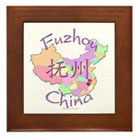 Fuzhou China Map Framed Tile
