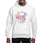 Fuzhou China Map Hooded Sweatshirt