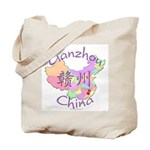 Ganzhou China Map Tote Bag