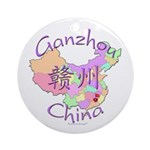 Ganzhou China Map Ornament (Round)