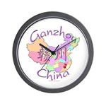 Ganzhou China Map Wall Clock