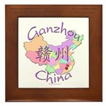 Ganzhou China Map Framed Tile