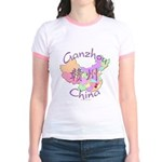 Ganzhou China Map Jr. Ringer T-Shirt