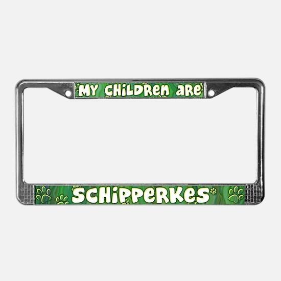 My Children Schipperke License Plate Frame